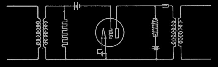 H.D.Arnold Thermionic Amplifier Circuit Feb.3, 1919